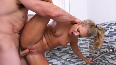 Shy girl Candice Dare is fucked in shower and bedroom