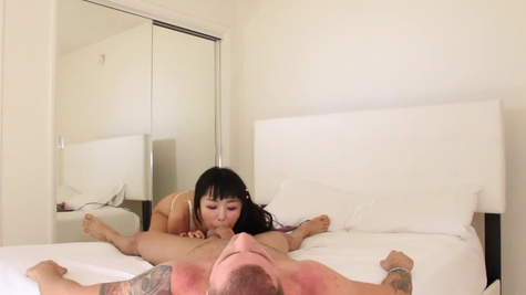 Young oriental woman Marica Hase sucks and gets licked