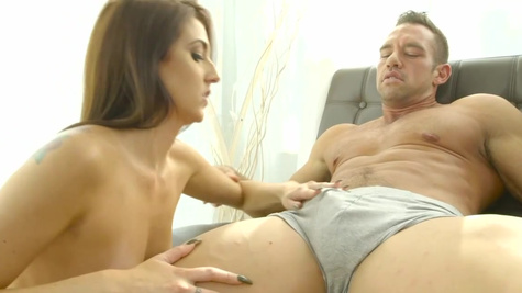 Nobody is at home and Aubrey Rose brings boyfriend for fuck