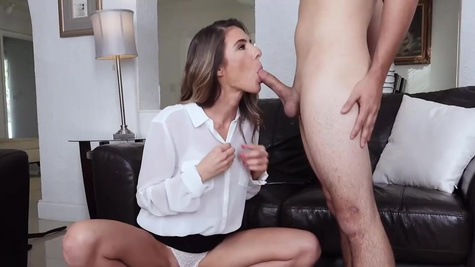 Hot girl Tara Ashley is suddenly fucked by the modest man