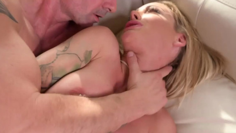 Neighbor fucks busty Isabelle Deltore with nipple piercing