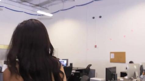 Lewd Latina Maya Bijou chooses an office worker to fuck her