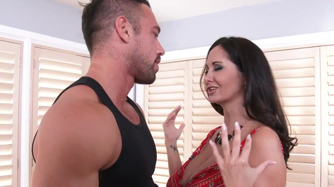 French goddess Ava Addams doesn't mind if the man cums in vag