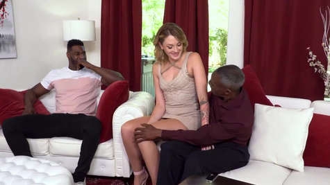 Black man and his stepson treat Charlotte Sins with big dicks