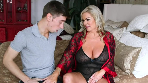 Samantha Jay in Samantha Jay sucks and fucks young cock