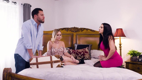 Cougar Sheena Ryder drags hubby's mistress into threesome