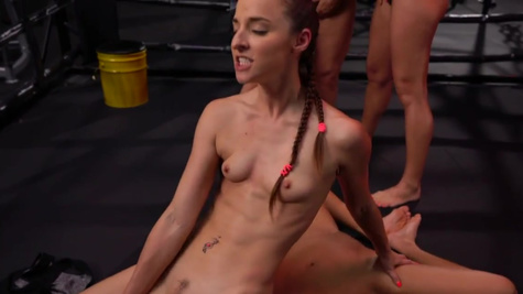 Alyssa Reece and sexy fighters have wild lesbian orgy