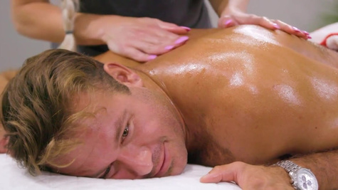 Masseuse Morgan Rain seduces client behind boss' back