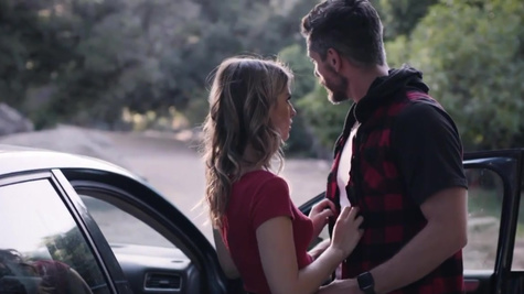 Poor gal Kristen Scott forced to satisfy mysterious driver