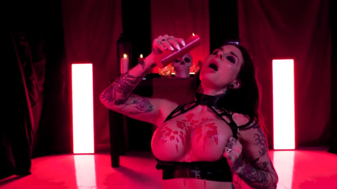 Inked Joanna Angel's butt was stretched out in POV