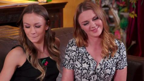Stepmom Marie Mccray teaches Naomi Swann lesbian stuff