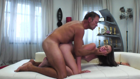 Hardcore anal casting for fragile chick Alessandra Amore
