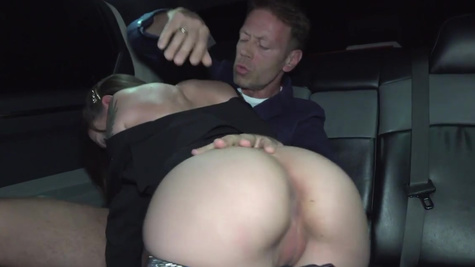 Italian asshole of hot Malena gets drilled by Rocco in limo