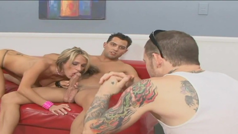 Sarah Jessie's husband watches his wife being pounded