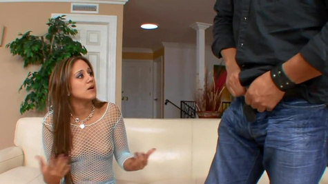 Stepdad watches the experienced man fucking Lynn Love