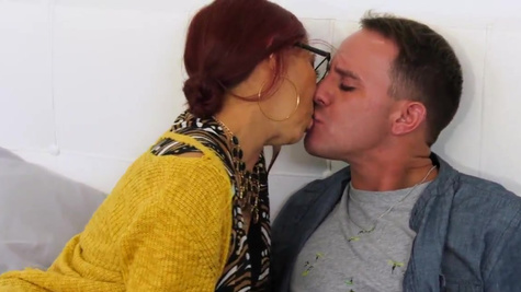 Stepson fucks Claudia Fox and ejaculates on the face