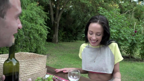 Picnic ends for Lexi Layo and her new BF with awesome sex