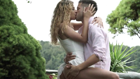 Stud and blonde Shona River have anal sex in the fresh air