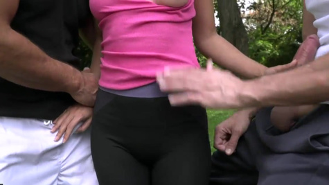 Jogging ends for Shrima Malati with anal group sex