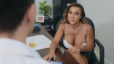 MILF Aubrey Black and her protege fuck in threesome