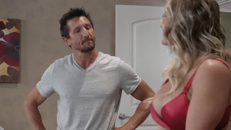 Cali Carter has sex with her client on the first workday
