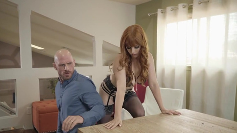 Busty fiery Penny Pax in stockings is getting smashed