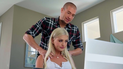 Serena Avery with trimmed pussy got nailed with facial