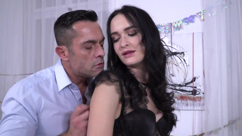 Hot Sasha Sparrow uses her ass to please a hard junk