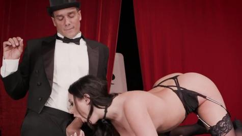 Fabulous slut Angela White helps magician with anus