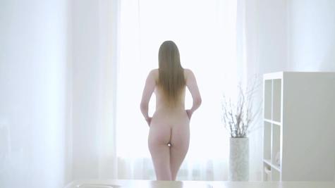 Fragile babe Callie Nicole tenderly fucked in parlor
