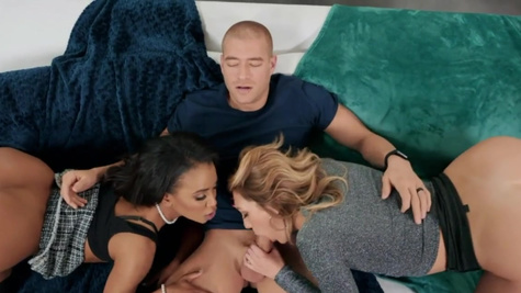 Charlotte Sins and guy's ex Demi Sutra have threesome