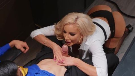 Titillating MILF Nicolette Shea is penetrated in the office
