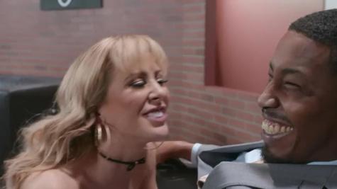 Black host fucks coed Alina Lopez and her dirty stepmom