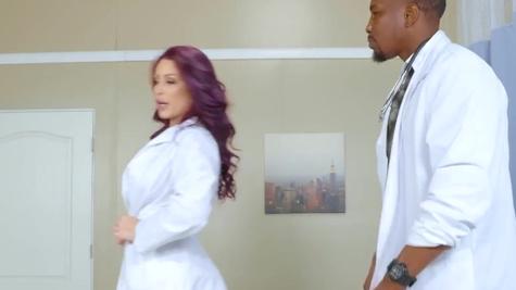 Black doctor fucks Ivy Lebelle and Monique Alexander