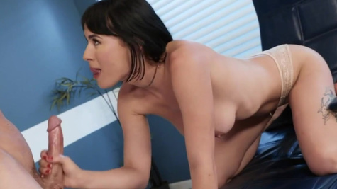 Olive Glass entices doctor into fucking in his office