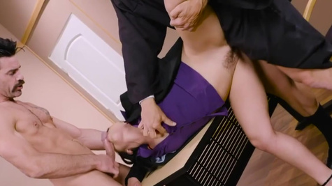 Kristina Rose double penetrated by judge and attorney