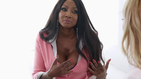 Diamond Jackson, Aspen Celeste in All this work on her wedding is stressing her out like crazy, but her wedding planner, Diamond Jackson, knows just how to help