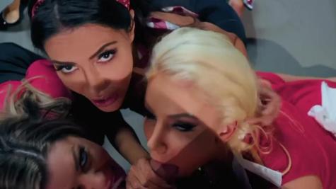 Karma RX, Lela Star, Nicolette Shea in BrazziBots: Part 4