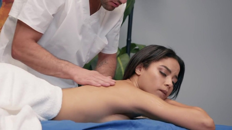 Maya Bijou in Maya is in the mood for an oily rubdown, and masseur Damon is ready to help her feel amazing from head to toe.