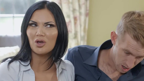 Jasmine Jae in It's time for Danny to meet his new girlfriend's parents, and that means he has to be on his best behavior for afternoon tea