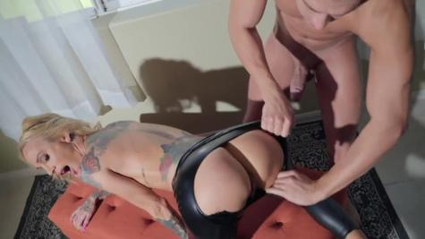 Sarah Jessie in Leather Lust