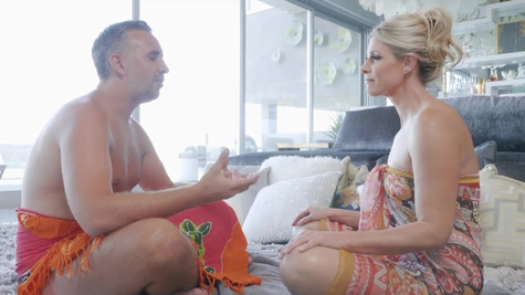 India Summer in Busty blonde MILF India Summer is on a journey of self-discovery and Keiran Lee is the only man who can help her on this spiritual endeavor