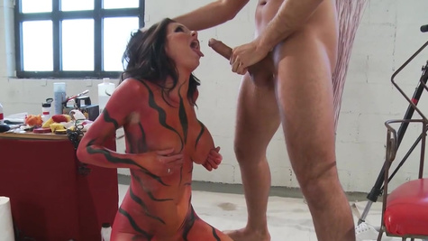Staggering combination of art and porn with a top milf