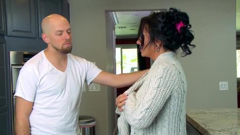 Impressive mom enjoys full step son's dick inside her pierced cunt