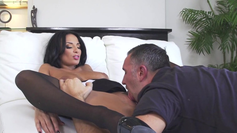 Amazing session of top anal sex with a staggering porn babe