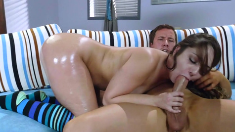 Teen gets ass pumped in serious modes after hot foreplay