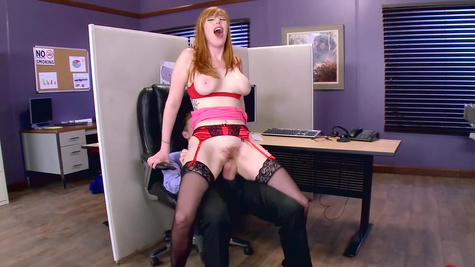 Top milf with large tits tries cock at work in naughty xxx special