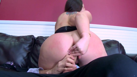 Big ass secretary deals both her bosses with scenes of hot sex