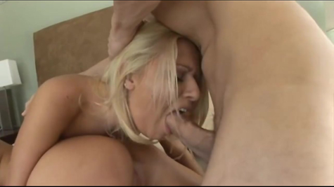 On a dick, two blondes worked hard and willingly shared sperm at the end