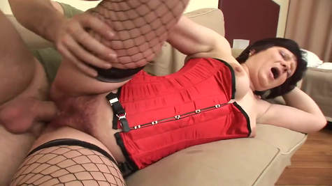 First, a milf works as a toy, then her cock fucks cool